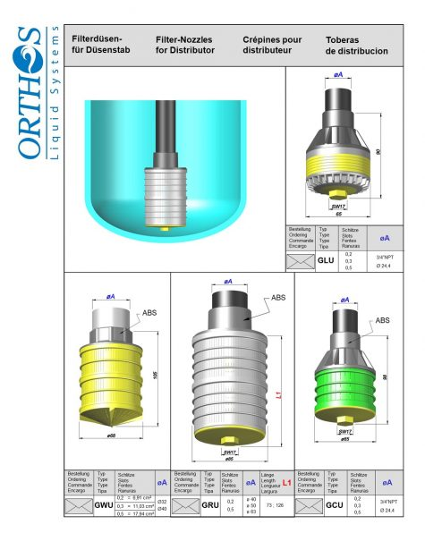 Filter Nozzles for Distributor