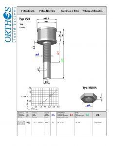 V20 Filter Strainer